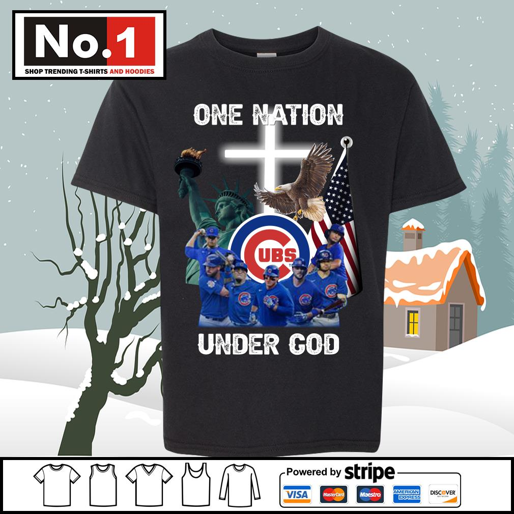 Chicago Cubs one nation under God s youth-tee