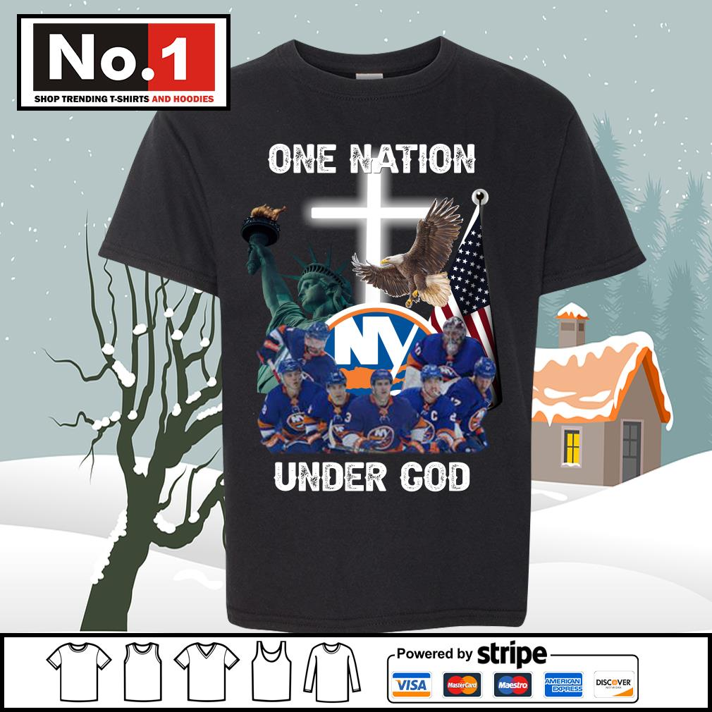 New York Islanders one nation under God s youth-tee
