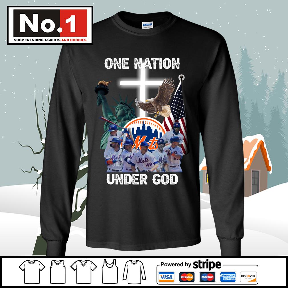 New York Mets one nation under God s longsleeve-tee