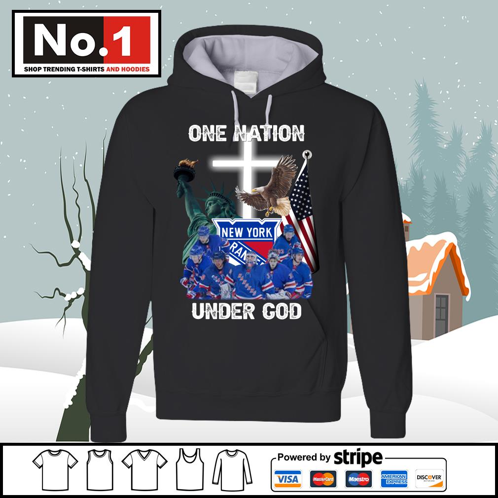 New York Rangers one nation under God s hoodie