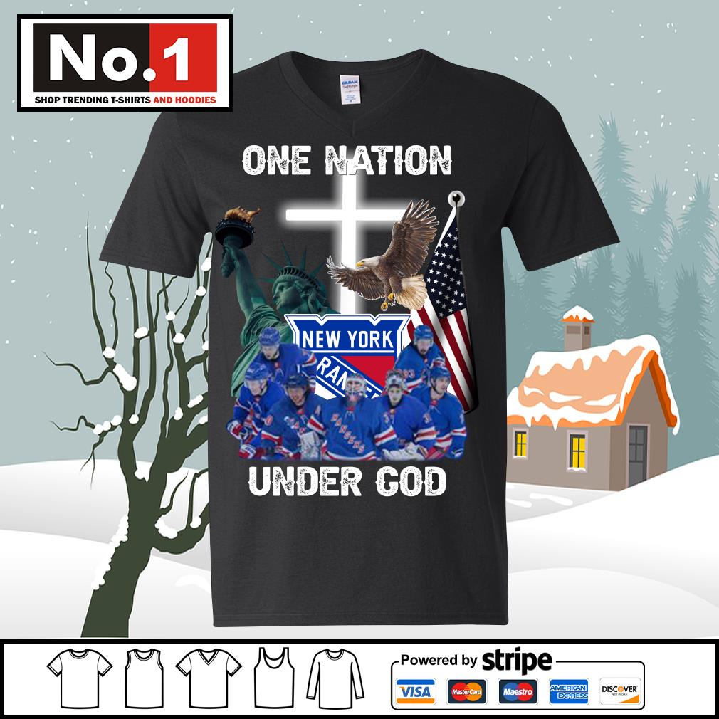 New York Rangers one nation under God s ladies-tee