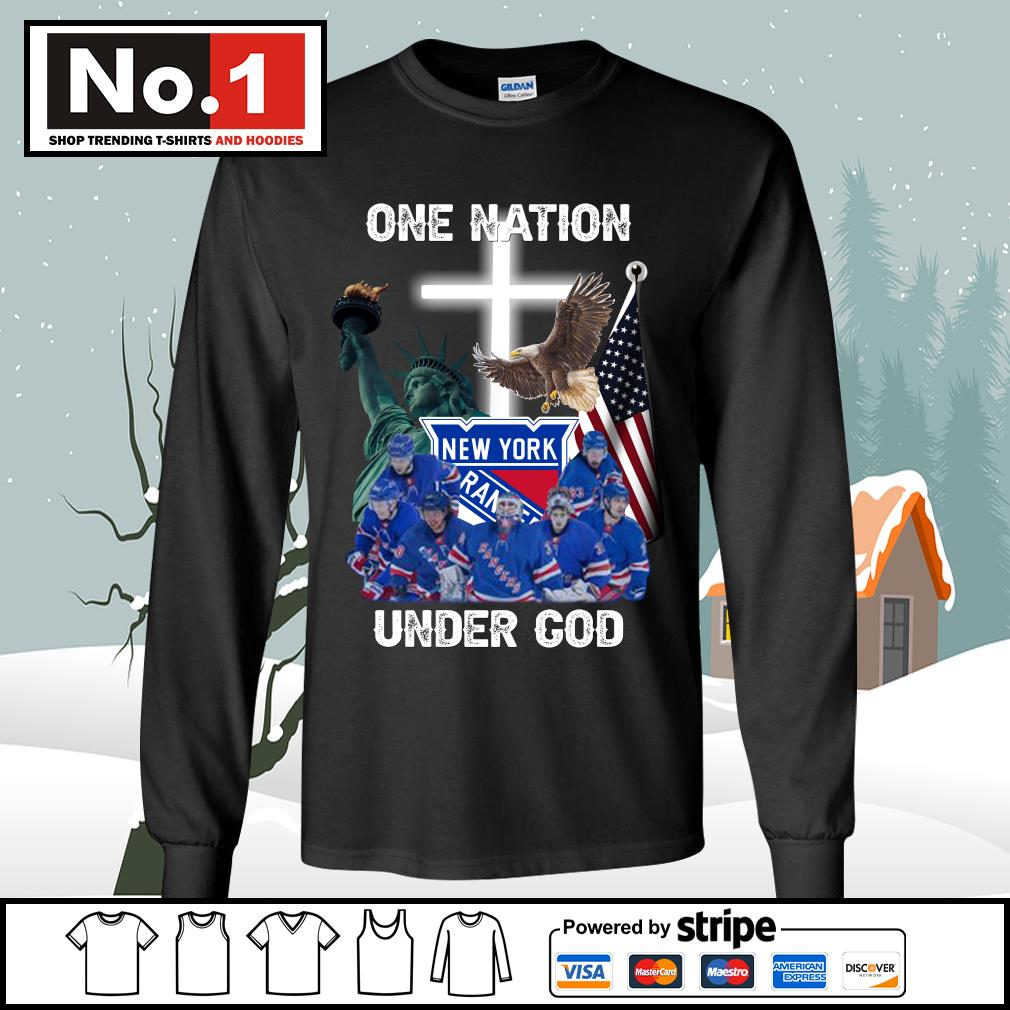 New York Rangers one nation under God s longsleeve-tee