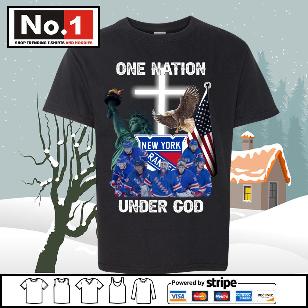 New York Rangers one nation under God s youth-tee