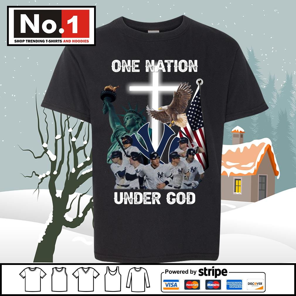 New York Yankees one nation under God s youth-tee