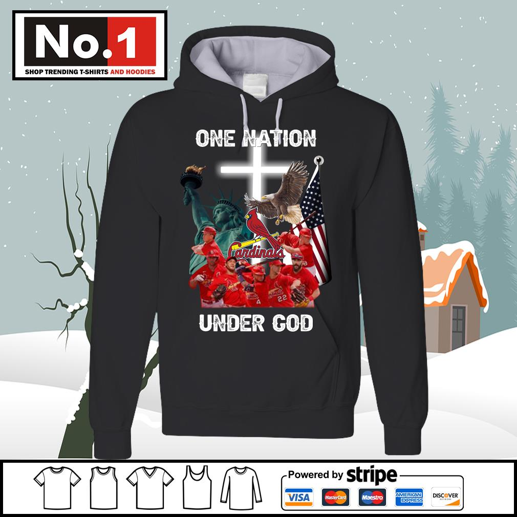 St. Louis Cardinals one nation under God s hoodie