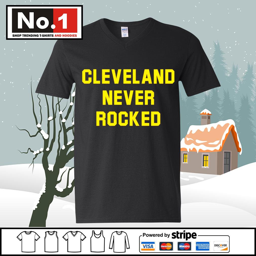 Cleveland never rocked s ladies-tee