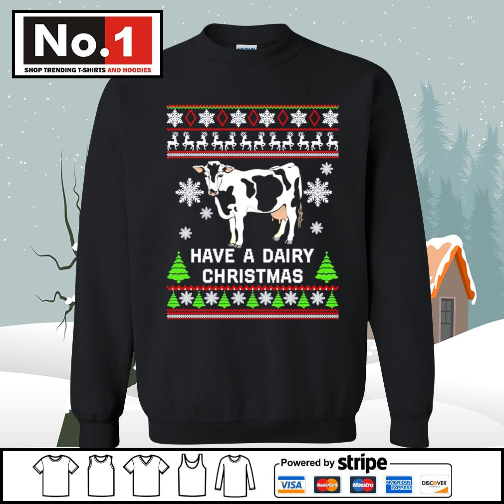 Cow have a dairy Christmas ugly s sweater