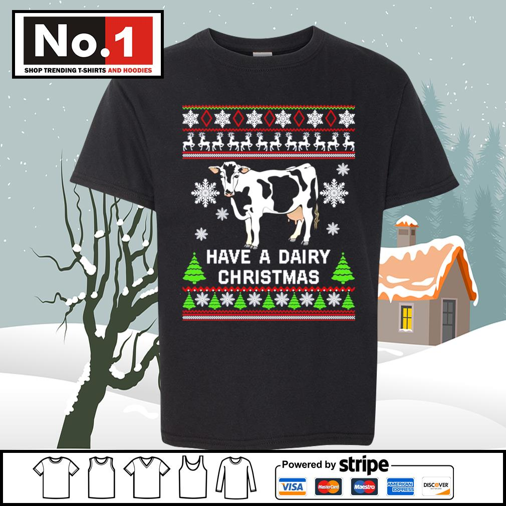 Cow have a dairy Christmas ugly s youth-tee