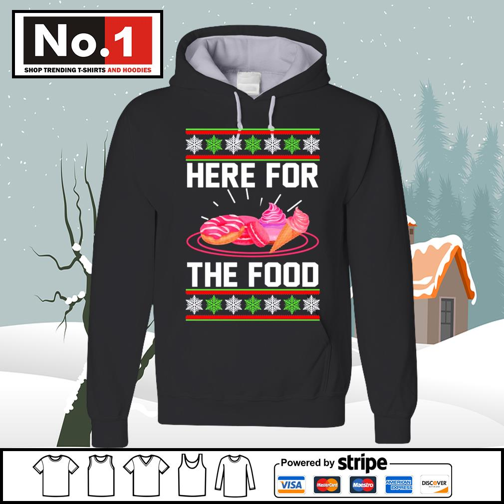 Donut and cream Here for the food ugly Christmas s hoodie