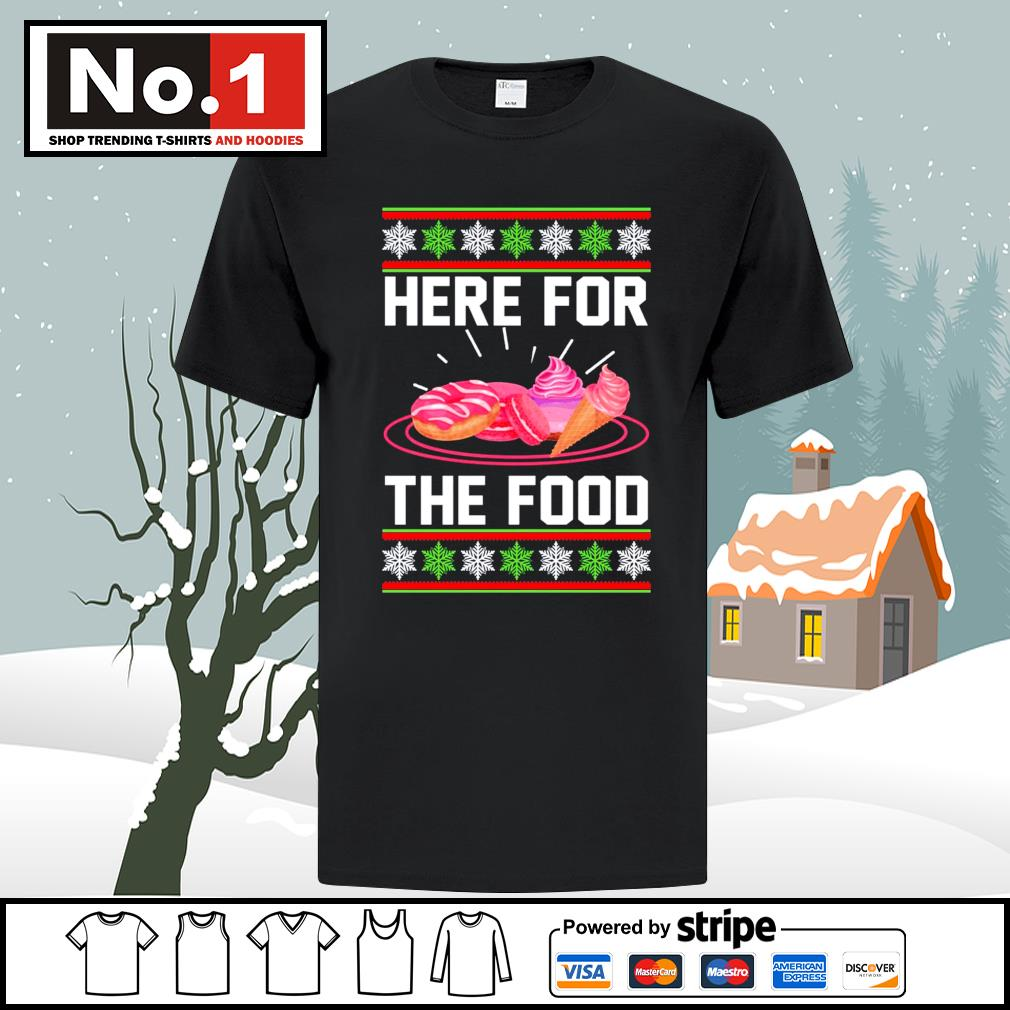 Donut and cream Here for the food ugly Christmas shirt