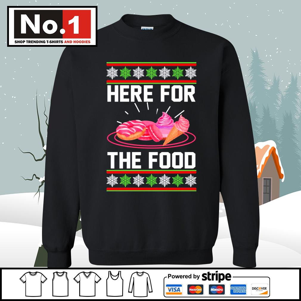 Donut and cream Here for the food ugly Christmas s sweater