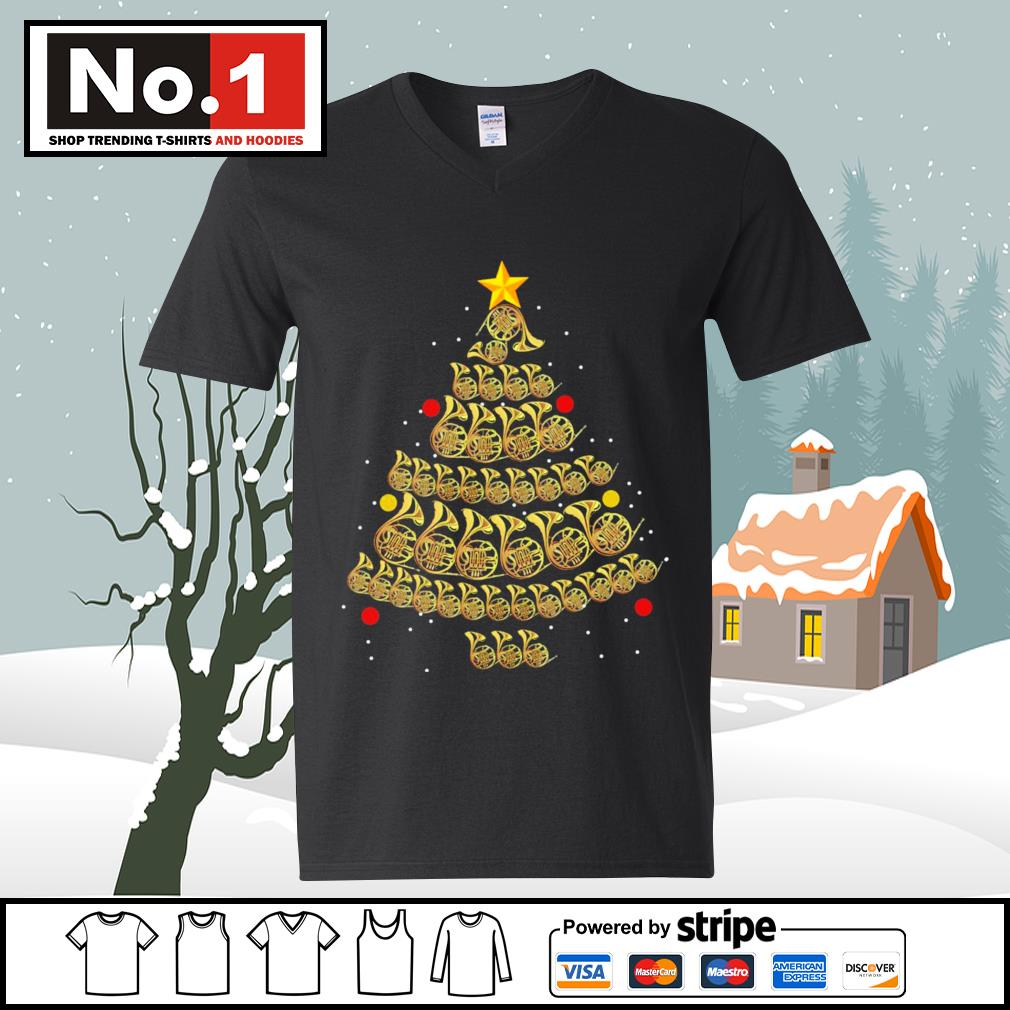 French Horn Christmas tree s ladies-tee