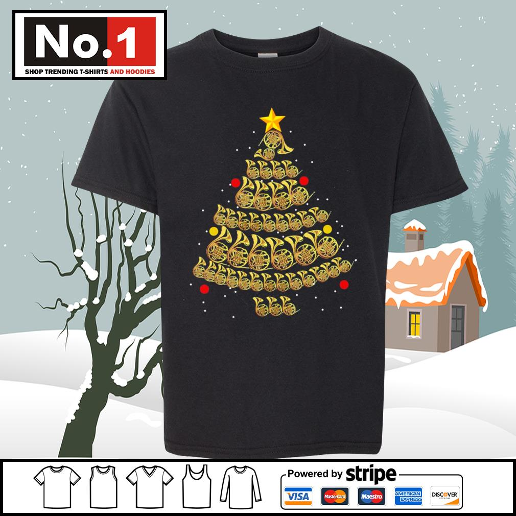 French Horn Christmas tree s youth-tee