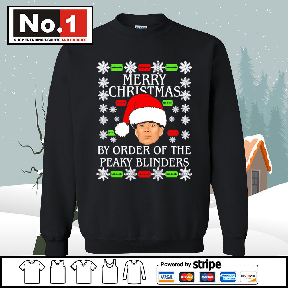 Merry Christmas by order of the Peaky Blinders ugly Christmas s sweater