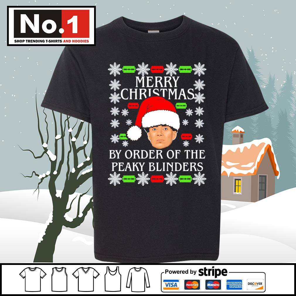 Merry Christmas by order of the Peaky Blinders ugly Christmas s youth-tee