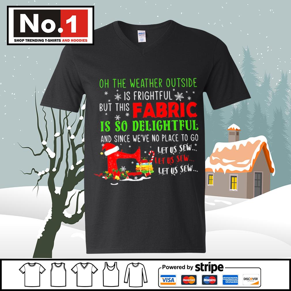 Oh the weather outside is frightful but this Fabric is so delightful and since we've no place to go let us sew s ladies-tee