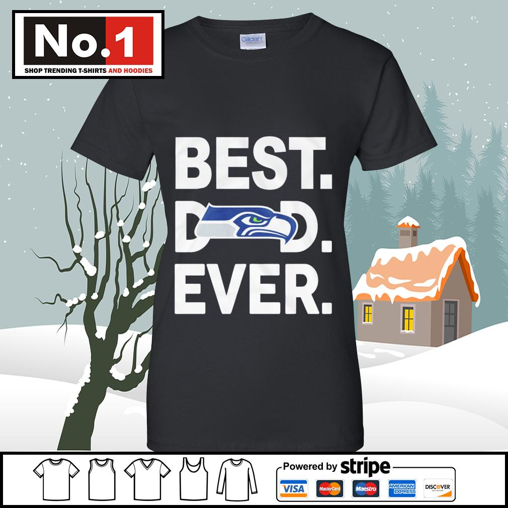 NFC West division champions best dad ever Seattle Seahawks Football Team s v-neck-t-shirt