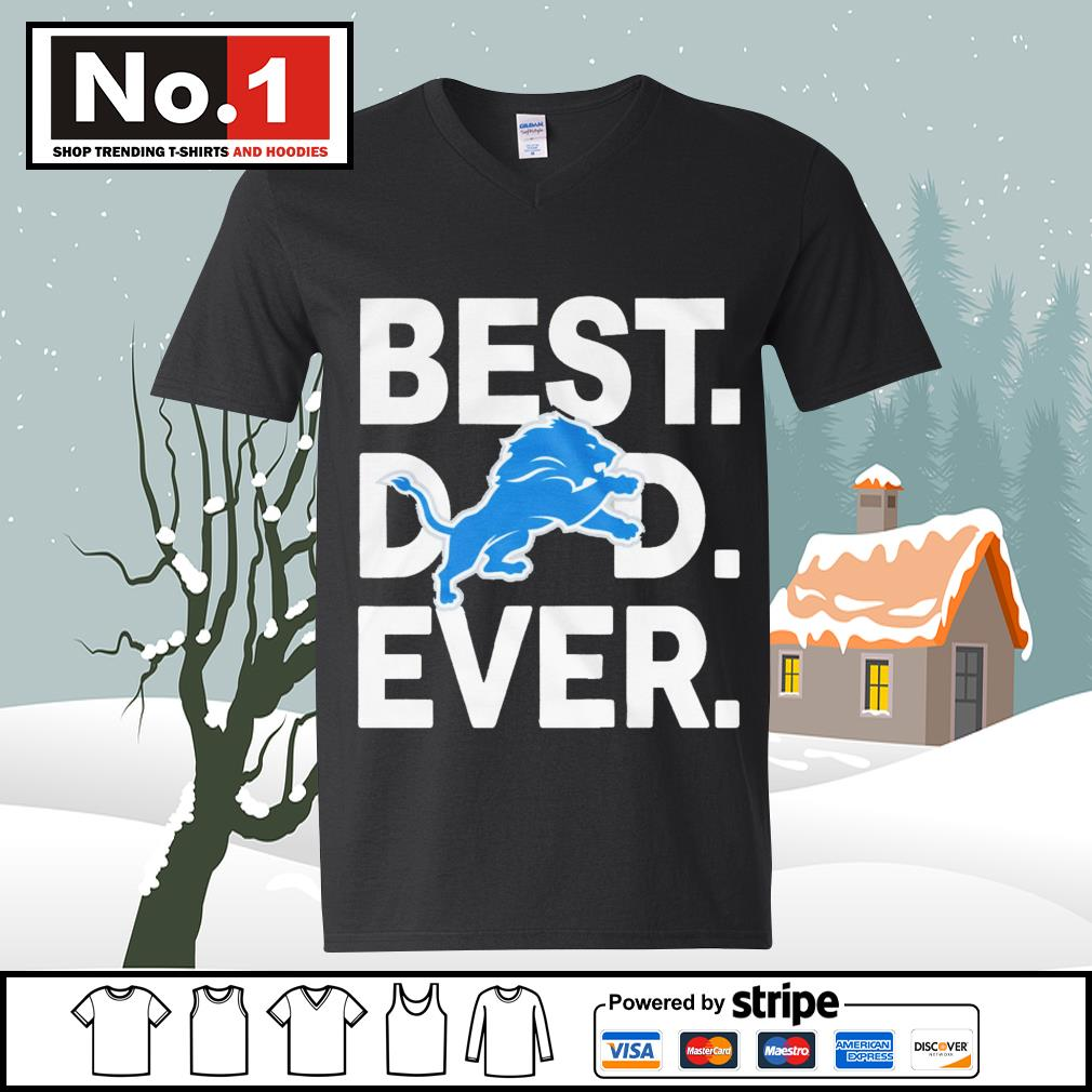 NFL best dad ever Detroit Lions Football Team s ladies-tee