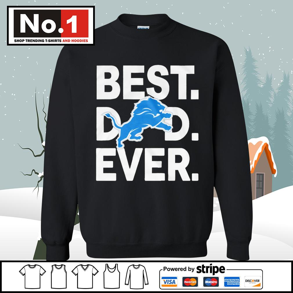 NFL best dad ever Detroit Lions Football Team s sweater