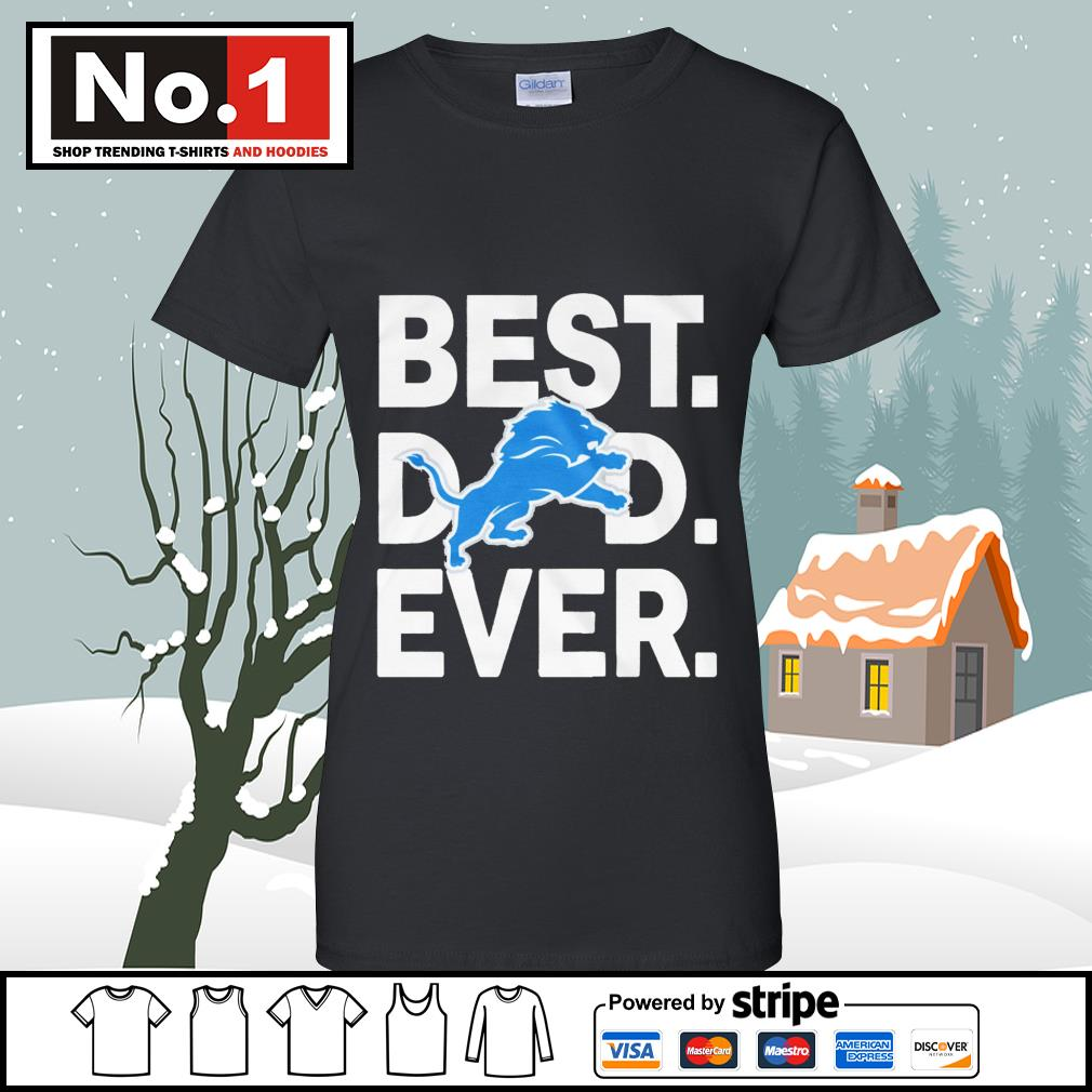 NFL best dad ever Detroit Lions Football Team s v-neck-t-shirt