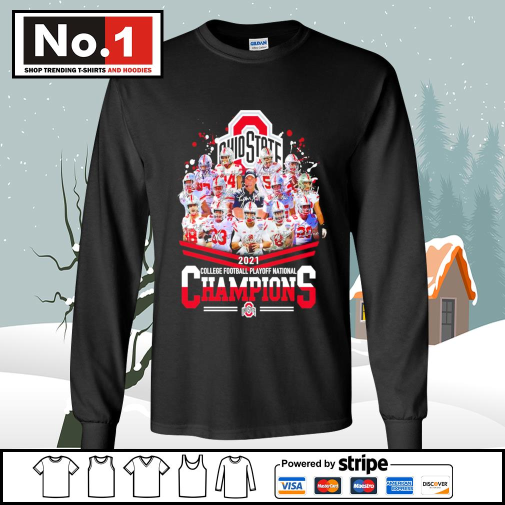 Ohio State Buckeyes 2021 college football playoff National Champions signatures s longsleeve-tee