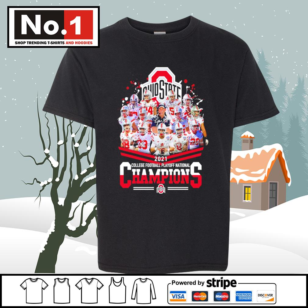 Ohio State Buckeyes 2021 college football playoff National Champions signatures s youth-tee