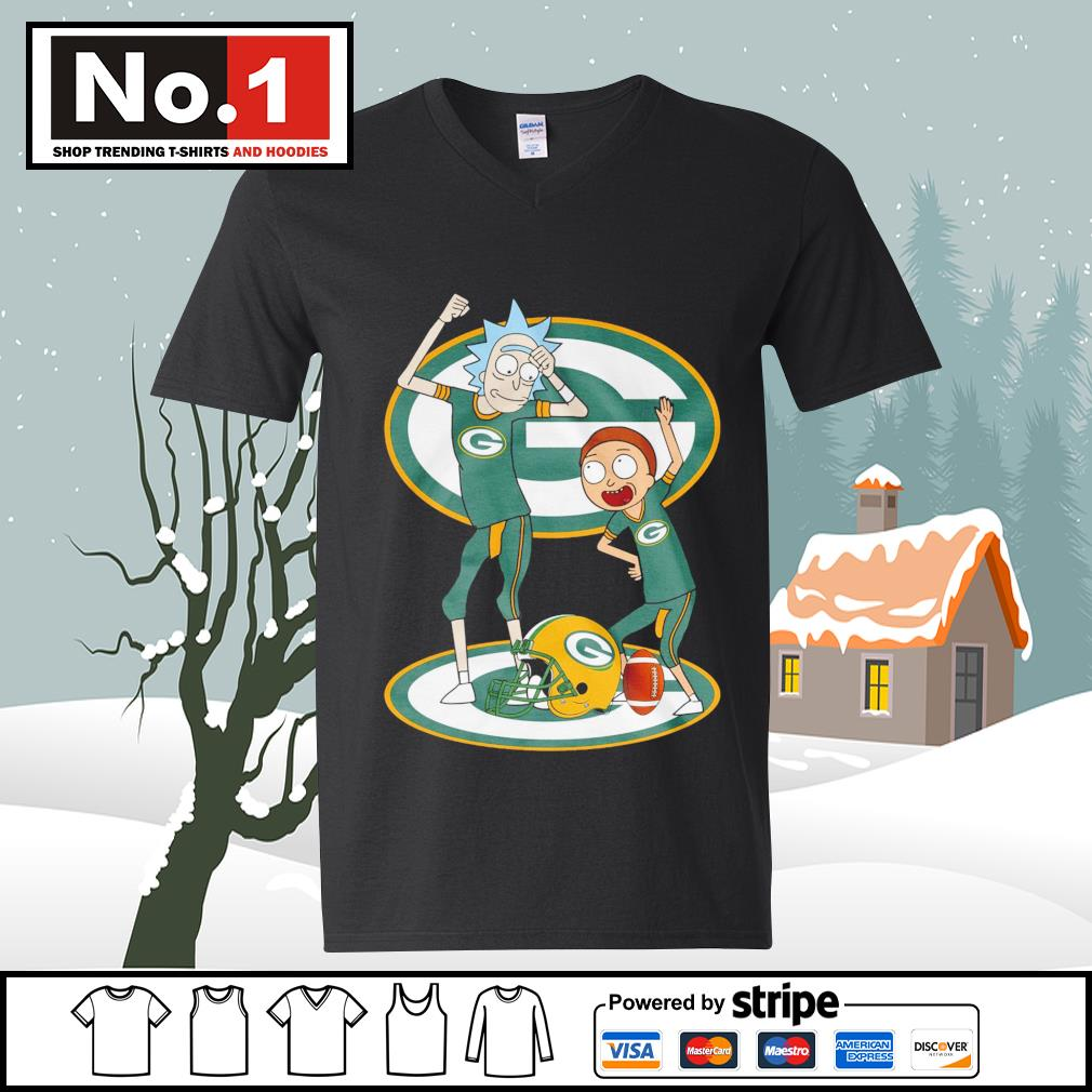 Rick and Morty Green Bay Packers s ladies-tee