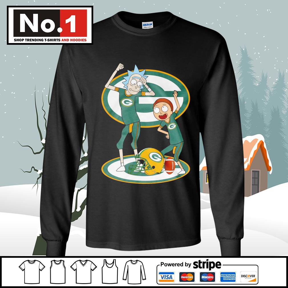 Rick and Morty Green Bay Packers s longsleeve-tee