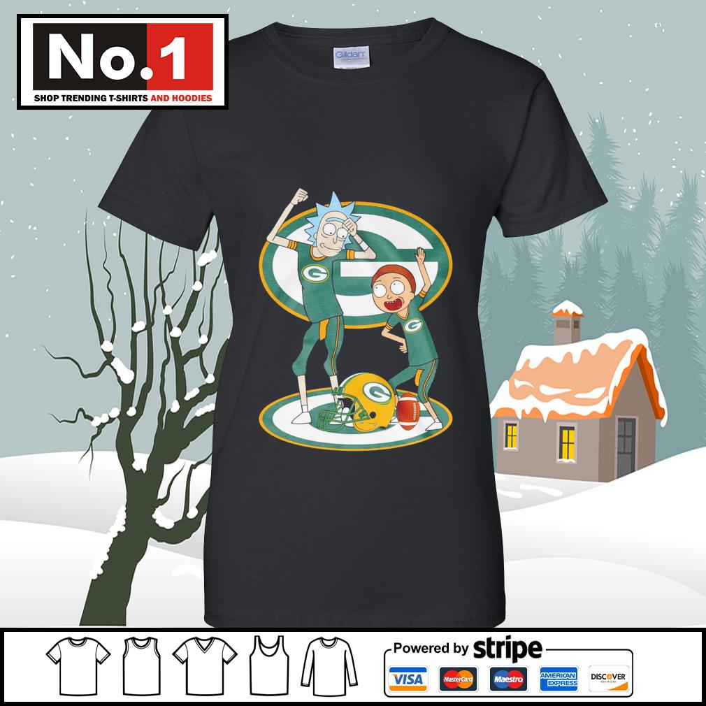 Rick and Morty Green Bay Packers s v-neck-t-shirt