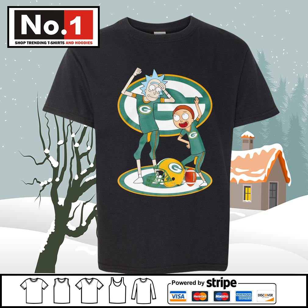 Rick and Morty Green Bay Packers s youth-tee