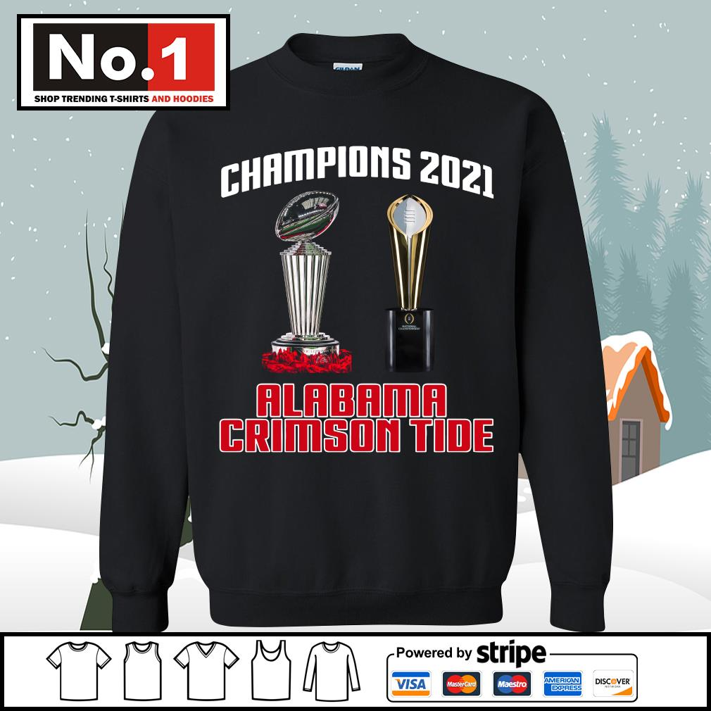 Rose Bowl cup National Championship cup Champions 2021 Alabama Crimson Tide 52 24 Ohio State s sweater