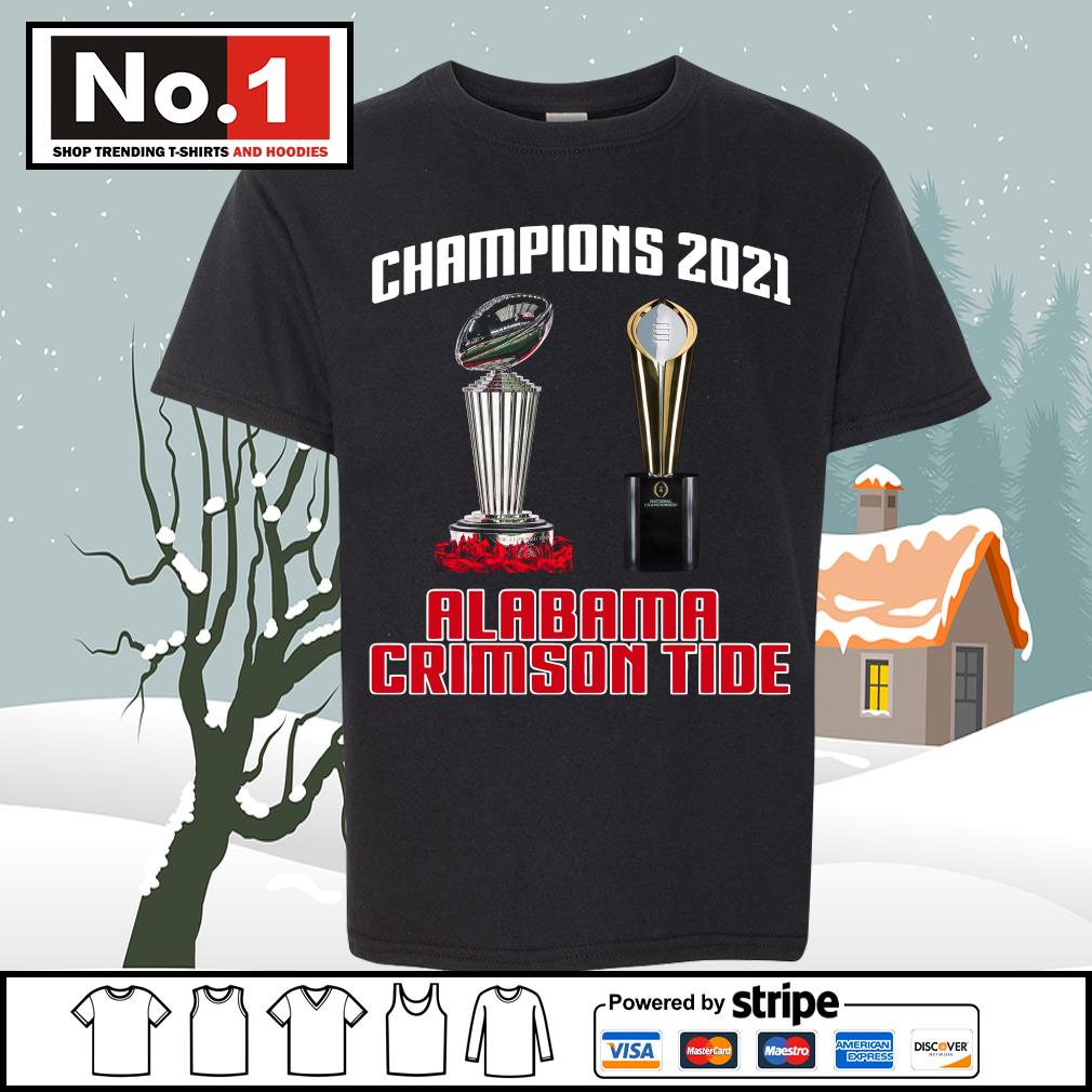 Rose Bowl cup National Championship cup Champions 2021 Alabama Crimson Tide 52 24 Ohio State s youth-tee