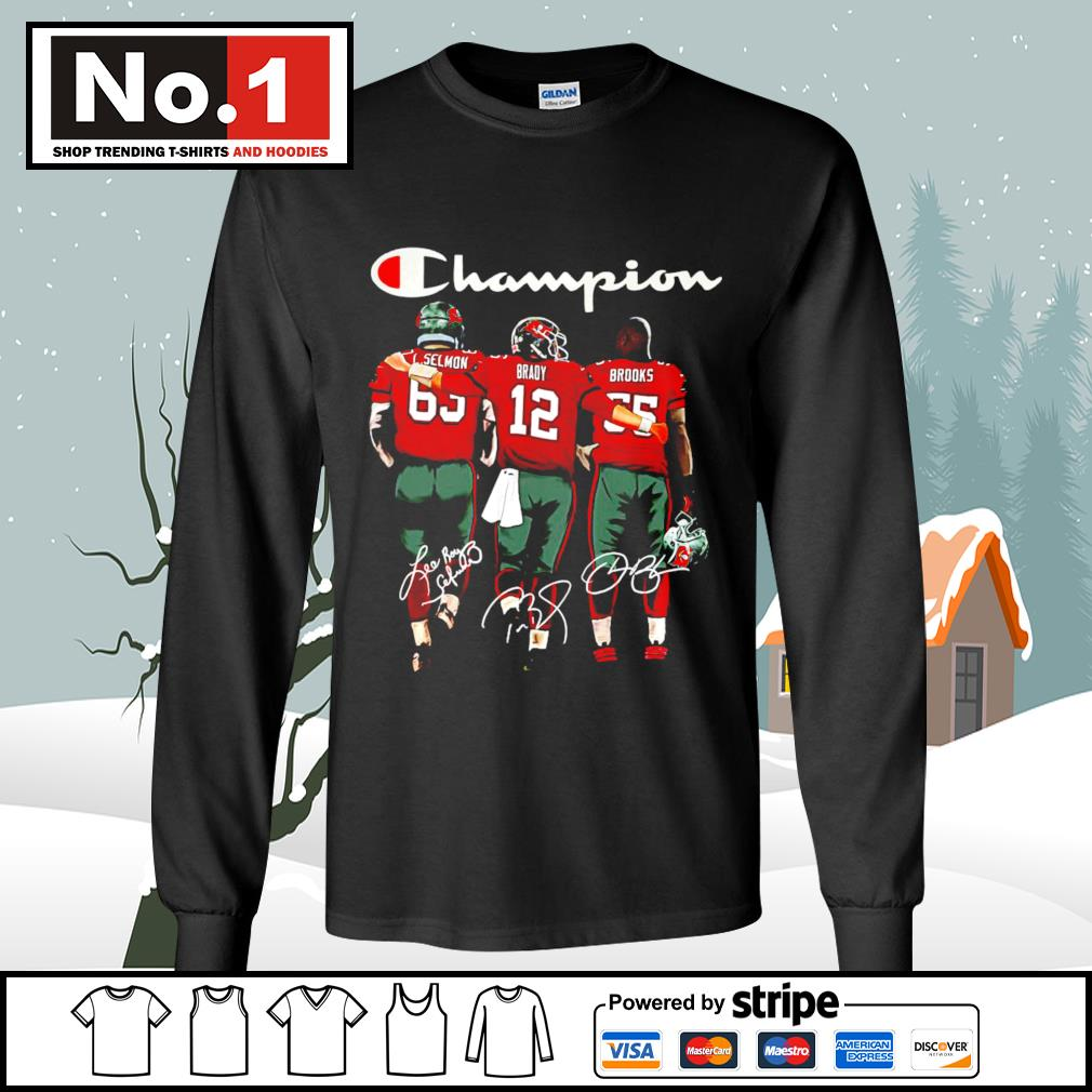 Tampa Bay Buccaneers Selmon Brady Brooks Champion signatures s longsleeve-tee