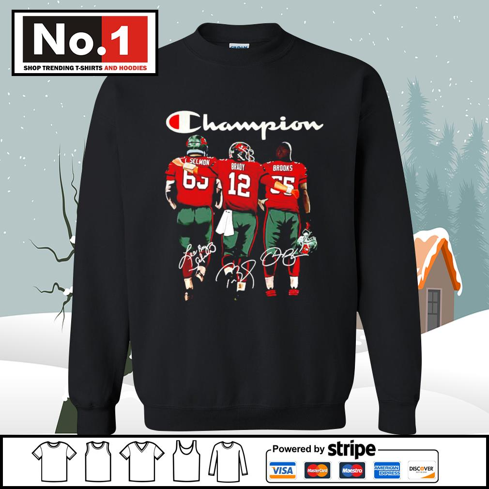 Tampa Bay Buccaneers Selmon Brady Brooks Champion signatures s sweater