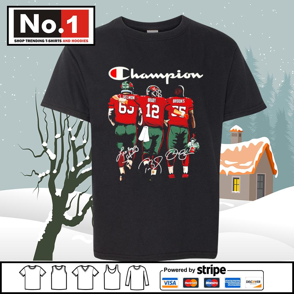 Tampa Bay Buccaneers Selmon Brady Brooks Champion signatures s youth-tee