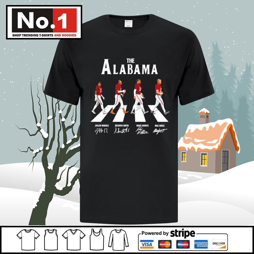 The Alabama Crimson Tide Abbey Road signatures shirt
