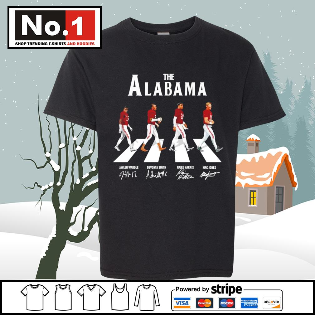 The Alabama Crimson Tide Abbey Road signatures s youth-tee
