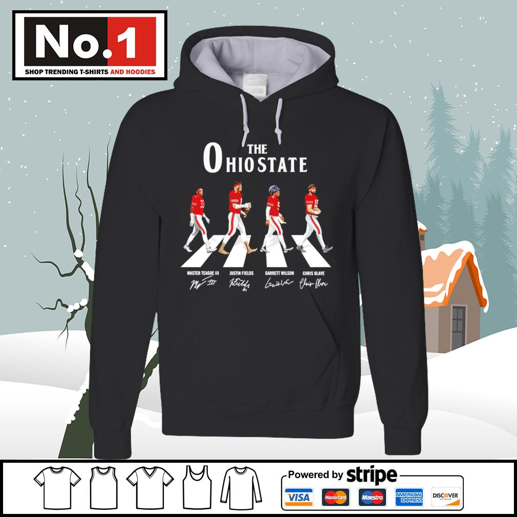 The Ohio State Buckeyes Abbey Road signatures s hoodie