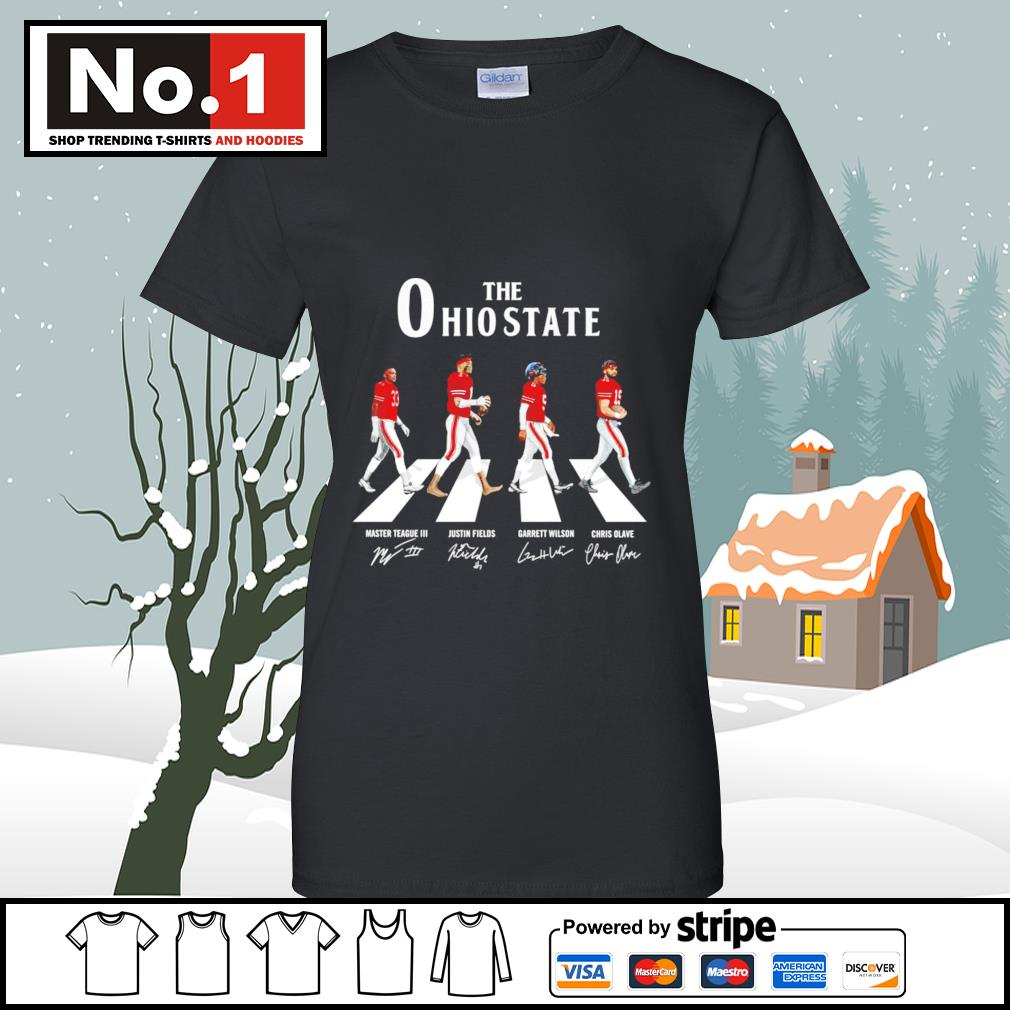 The Ohio State Buckeyes Abbey Road signatures s v-neck-t-shirt